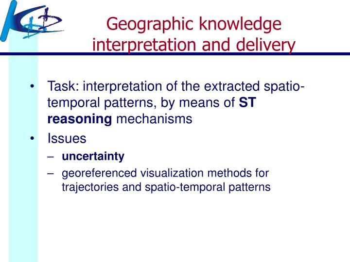 Geographic knowledge interpretation and delivery