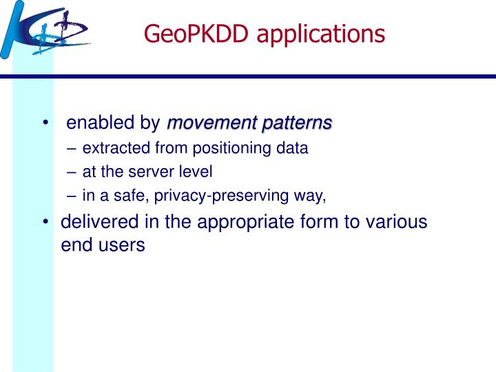 GeoPKDD applications