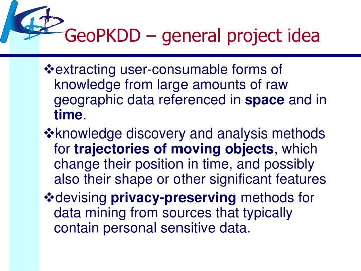 GeoPKDD – general project idea