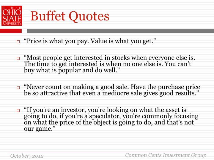 Buffet Quotes