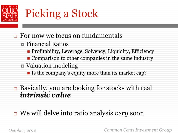 Picking a Stock