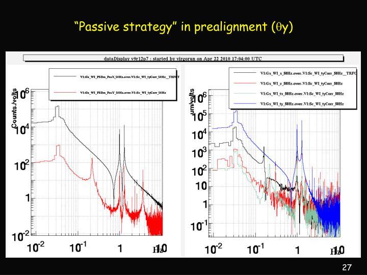 """Passive strategy"" in prealignment ("