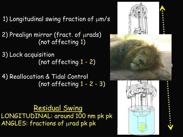 1) Longitudinal swing fraction of