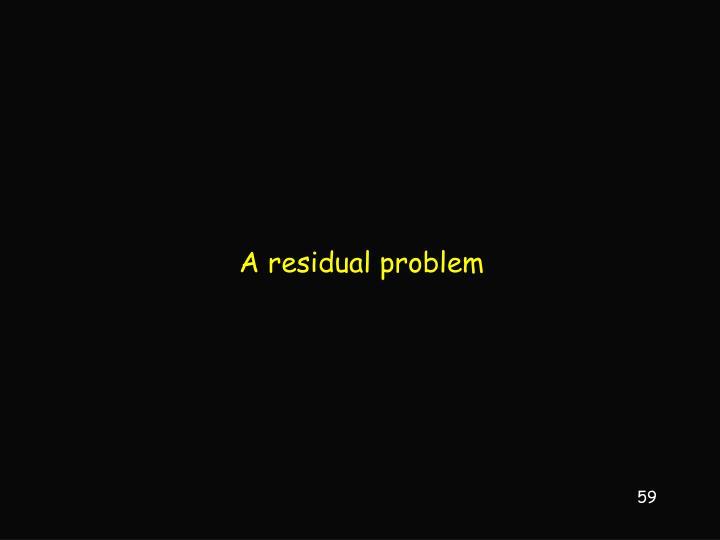 A residual problem
