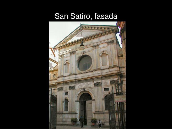 San Satiro, fasada