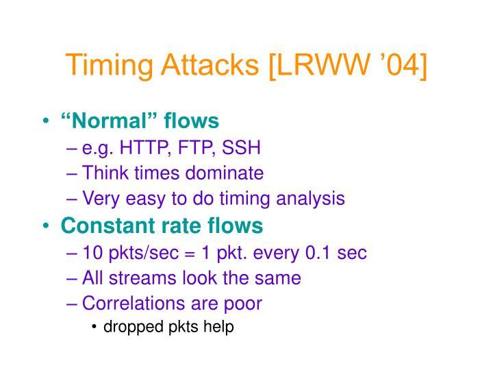 Timing attacks lrww 04