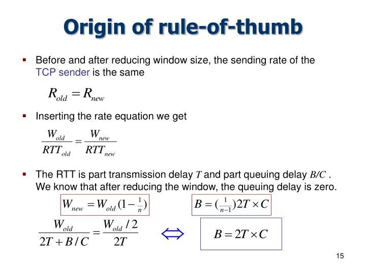 Origin of rule-of-thumb