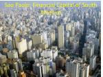 sao paolo financial capital of south america