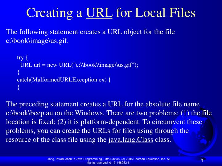 Creating a url for local files