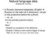 natural language data kapatsinski in press