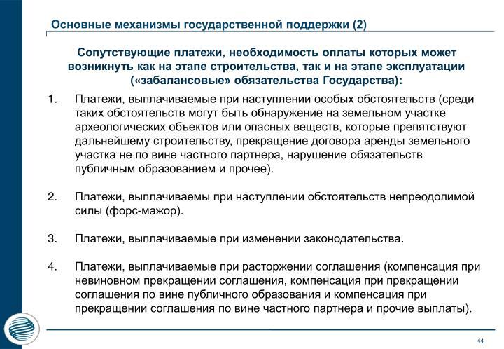 Основные механизмы государственной поддержки (2)