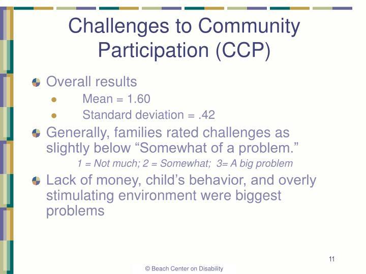 Challenges to Community Participation (CCP)