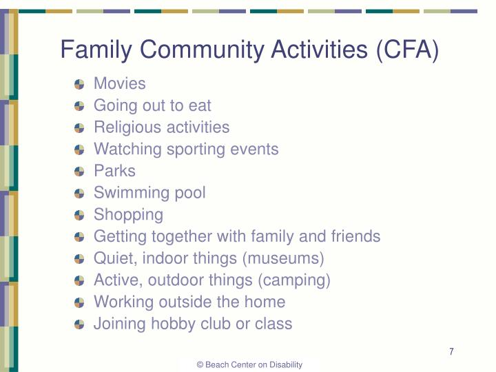 Family Community Activities (CFA)