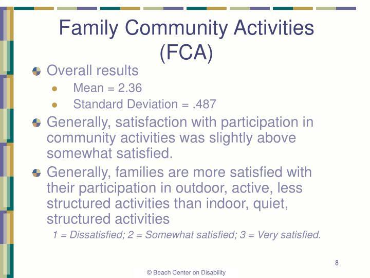 Family Community Activities (FCA)