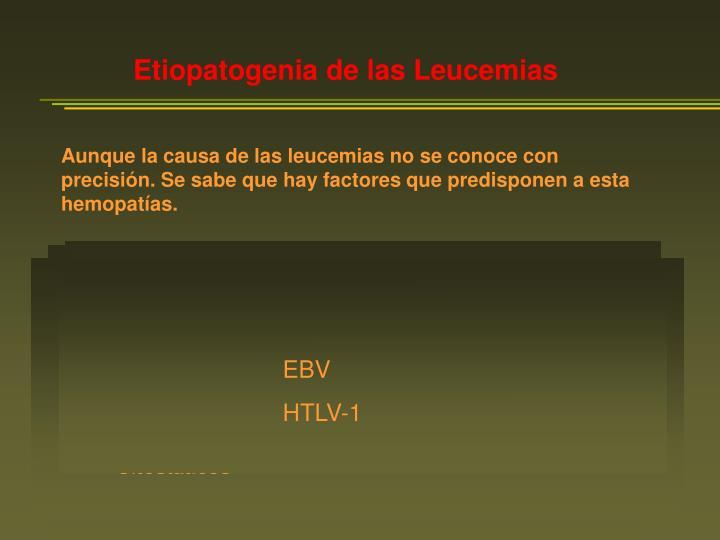 Etiopatogenia de las Leucemias