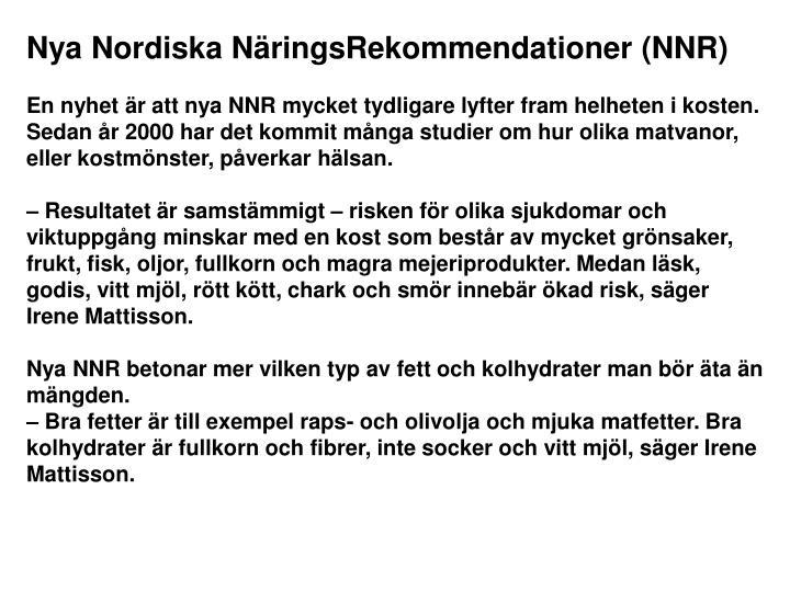 Nya Nordiska NäringsRekommendationer (NNR)