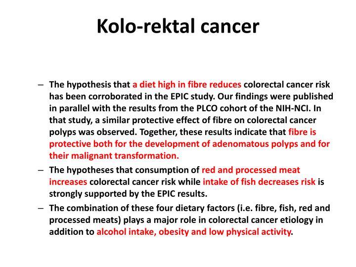 Kolo-rektal cancer