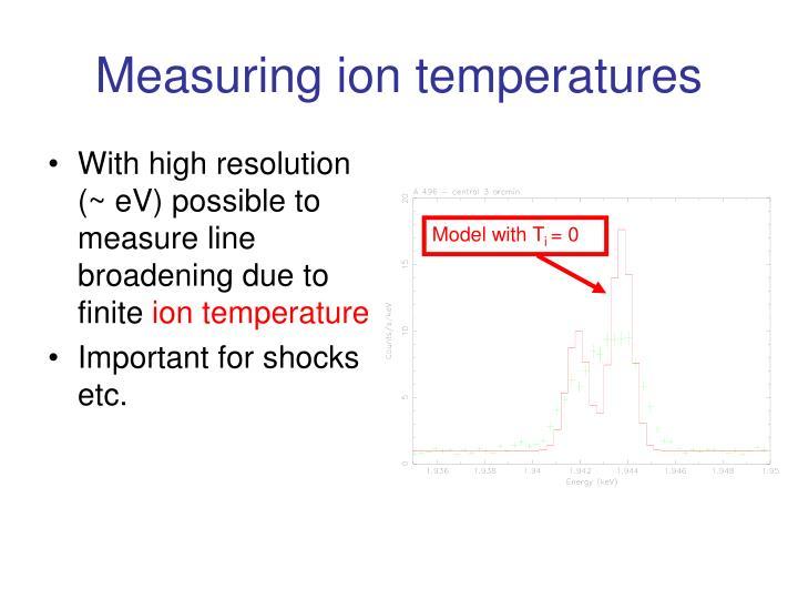 Measuring ion temperatures