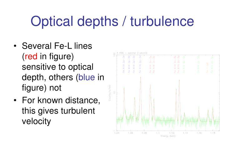 Optical depths / turbulence