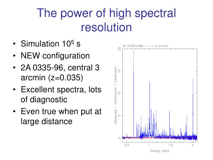 The power of high spectral resolution