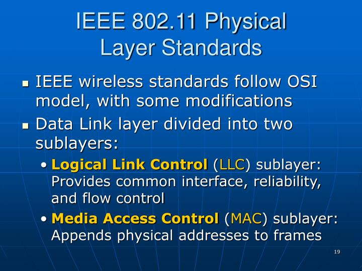 IEEE 802.11 Physical