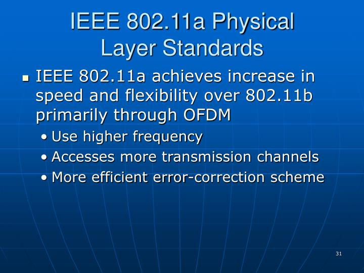IEEE 802.11a Physical
