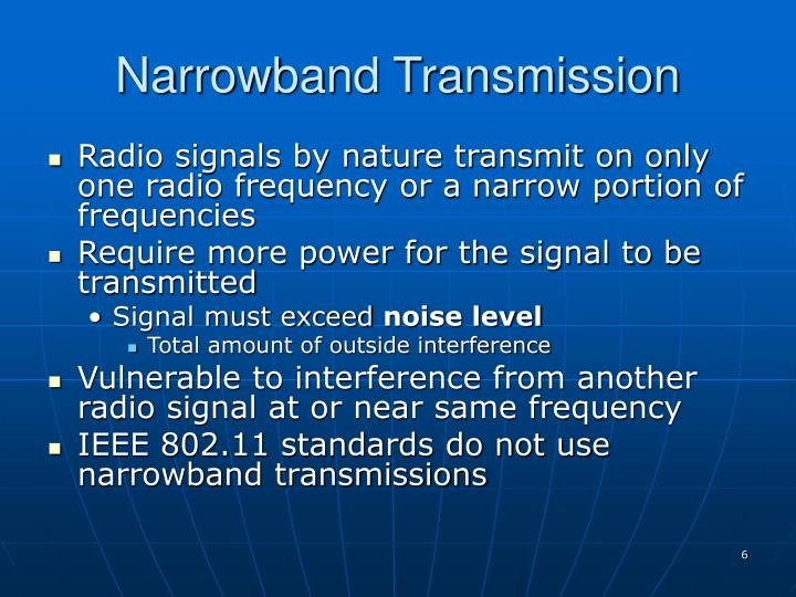 Narrowband Transmission
