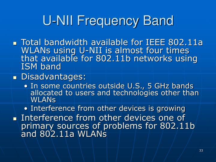 U-NII Frequency Band