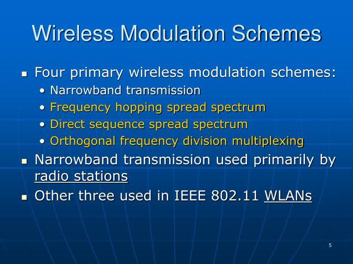 Wireless Modulation Schemes