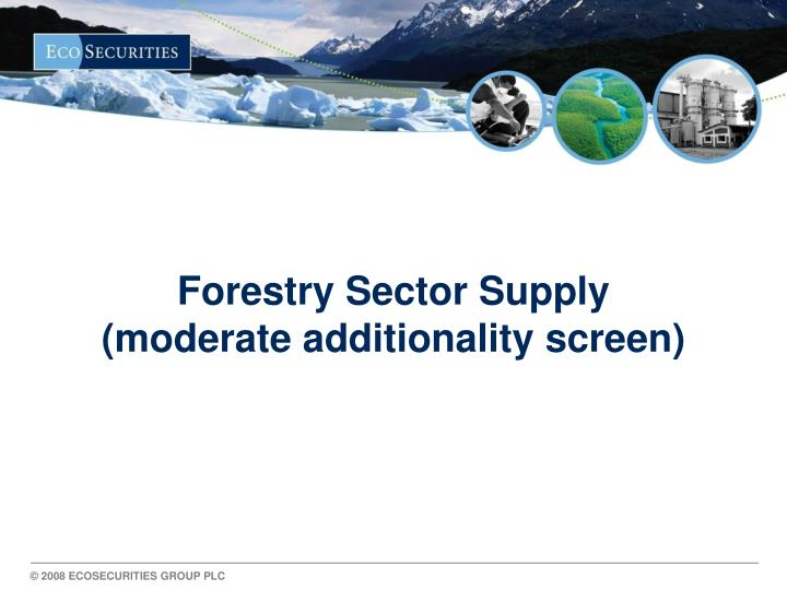 Forestry Sector Supply