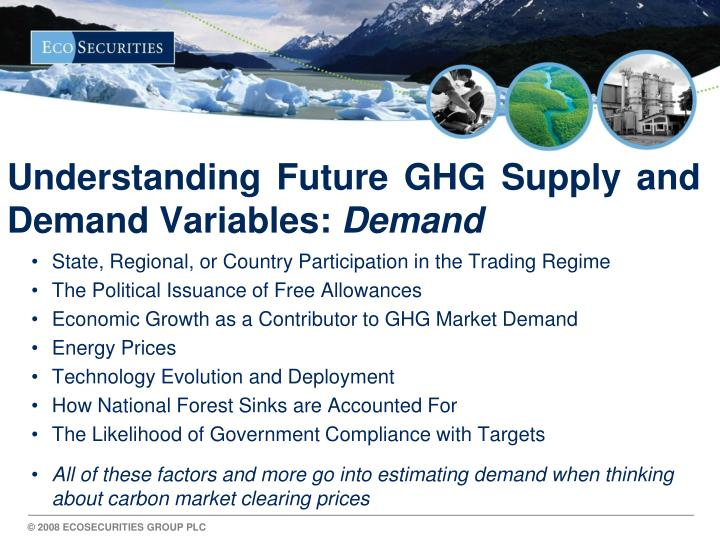 Understanding Future GHG Supply and Demand Variables: