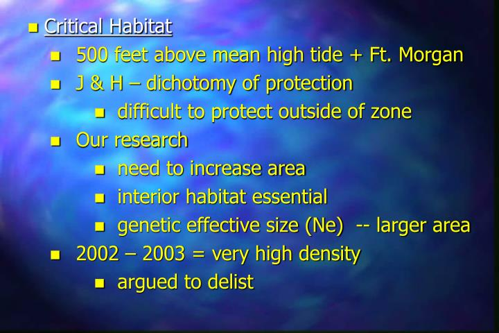 Critical Habitat