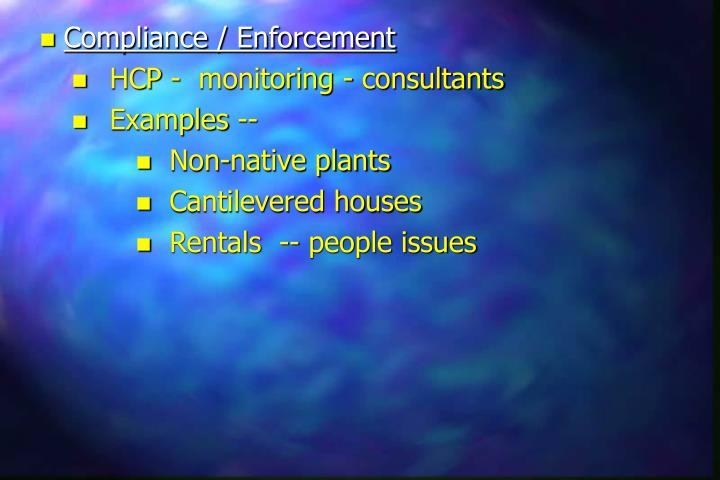 Compliance / Enforcement