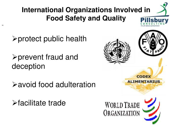 food safety and the international trade Promotes international trade, which in turn provides a means of generating  growth and reducing poverty however, many national food safety.