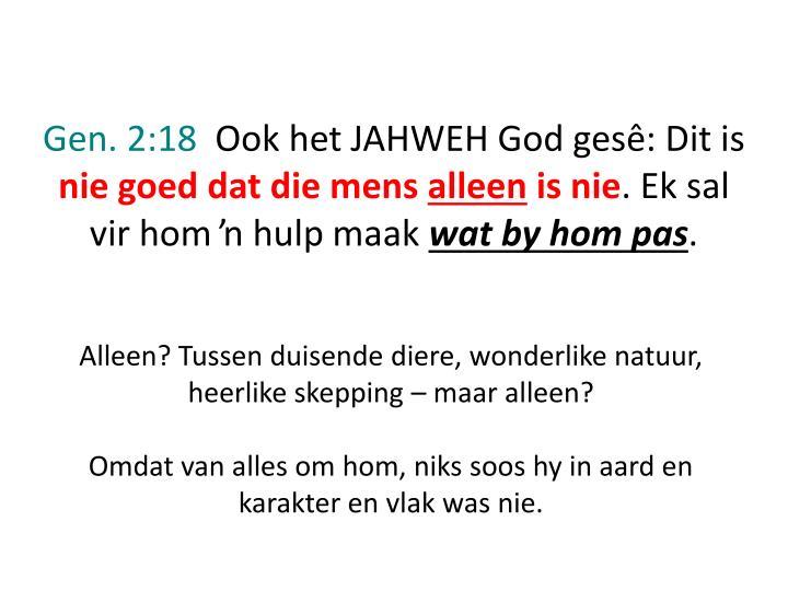 Gen. 2:18