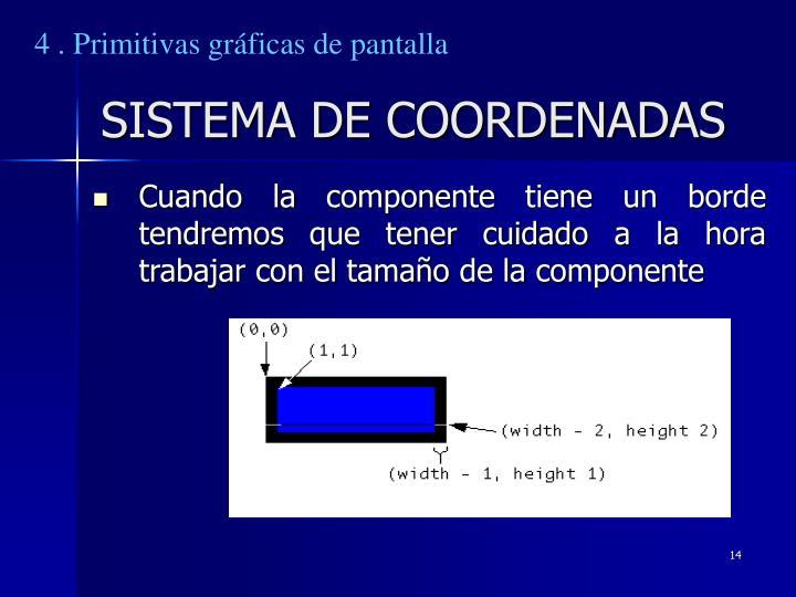 4 . Primitivas gráficas de pantalla