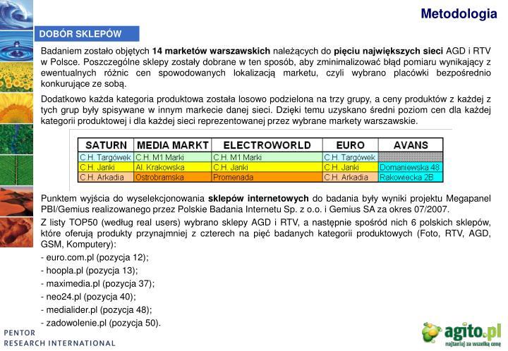 4884834fc513 Badaniem zostało objętych 14 marketów warszawskich należących ...