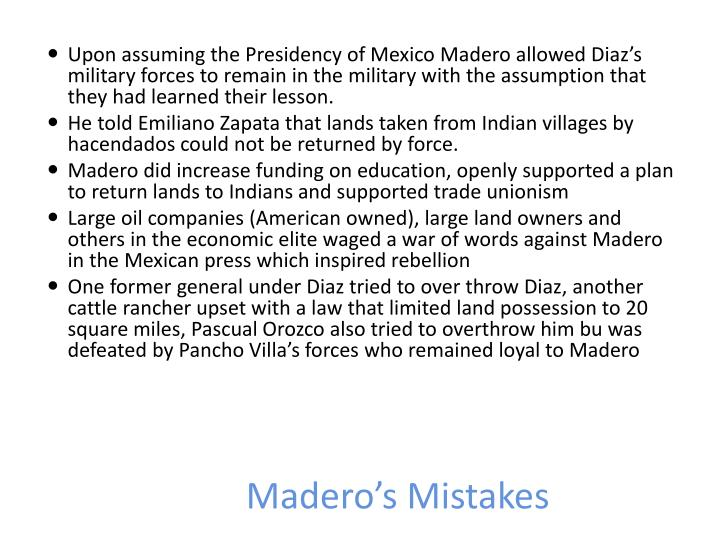 Madero's Mistakes