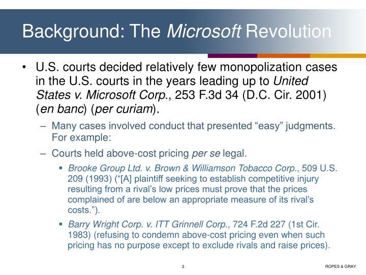 Background the microsoft revolution