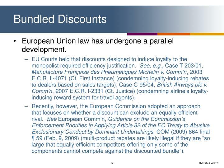 Bundled Discounts
