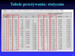 tabele prze ywania statyczne
