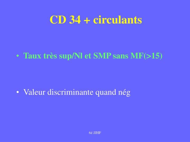 CD 34 + circulants