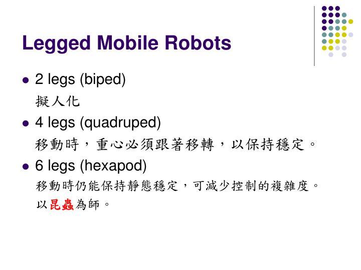 Legged Mobile Robots