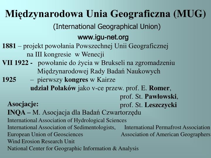 Międzynarodowa Unia Geograficzna