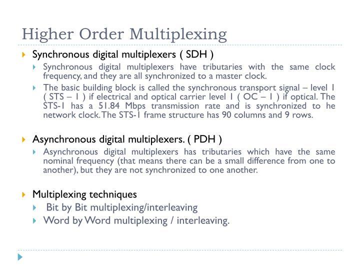 Higher Order Multiplexing