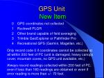 gps unit new item