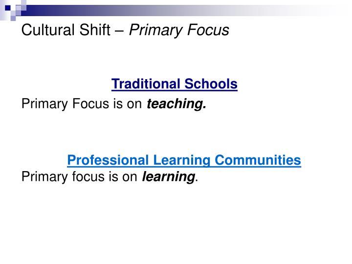 Cultural Shift –
