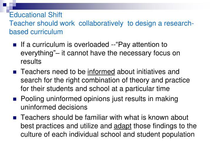 Educational Shift