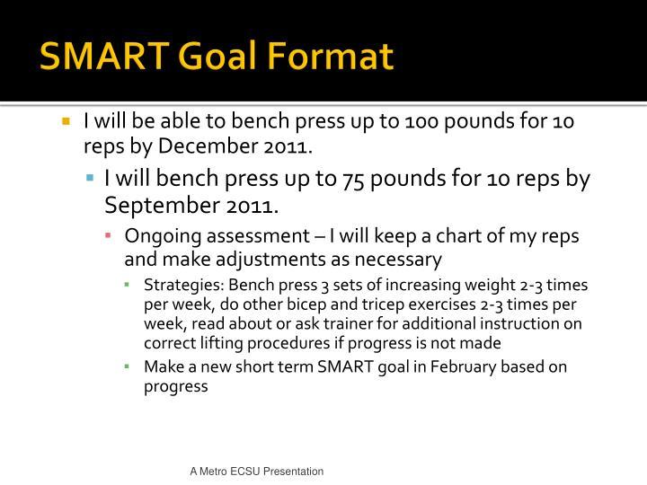 SMART Goal Format
