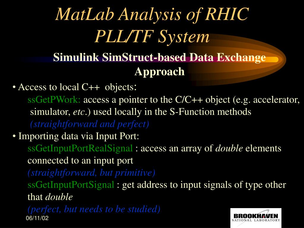 PPT - MatLab Analysis of RHIC PLL/TF System PowerPoint